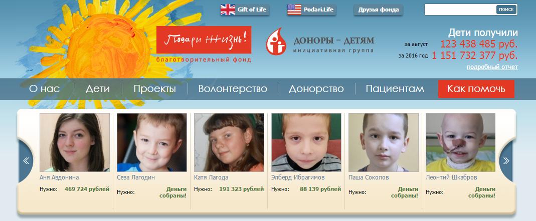 Помочь больным детям!