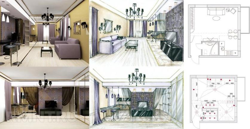 Эскизы и чертежи для дизайн проекта
