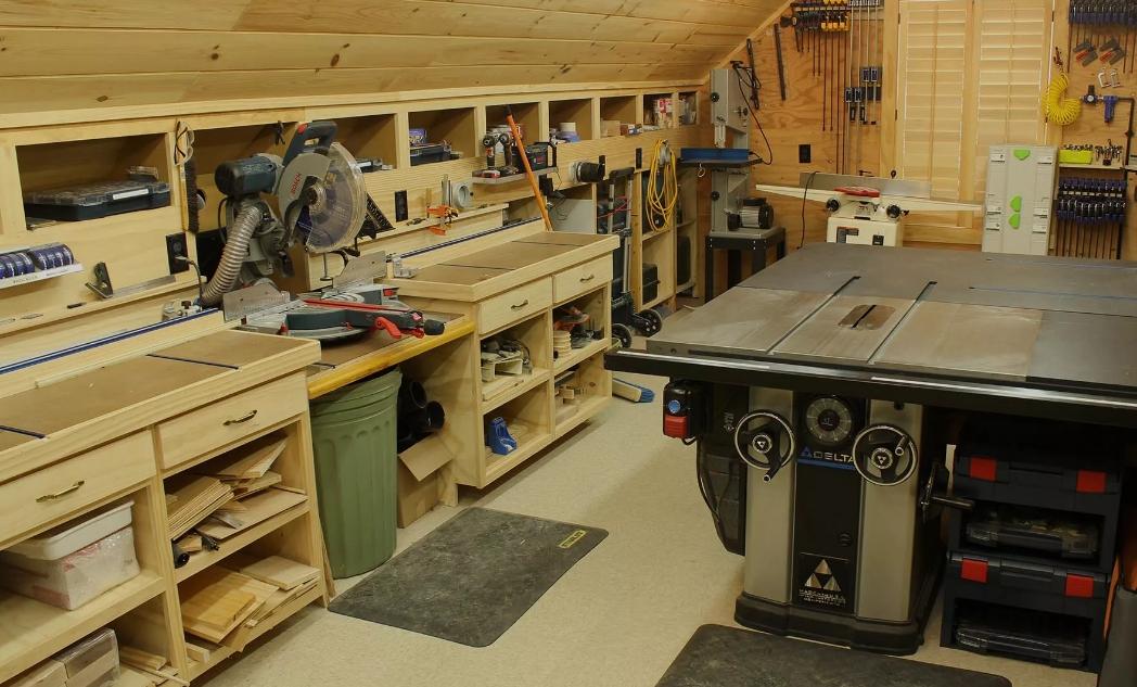 Грамотно организованный гараж-мастерская