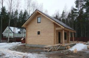 Из какой древесины можно построить баню 6 на 6?