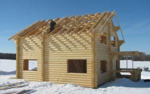 Минусы зимнего строительства деревянных домов