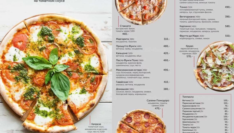 Составляем меню в пиццерии