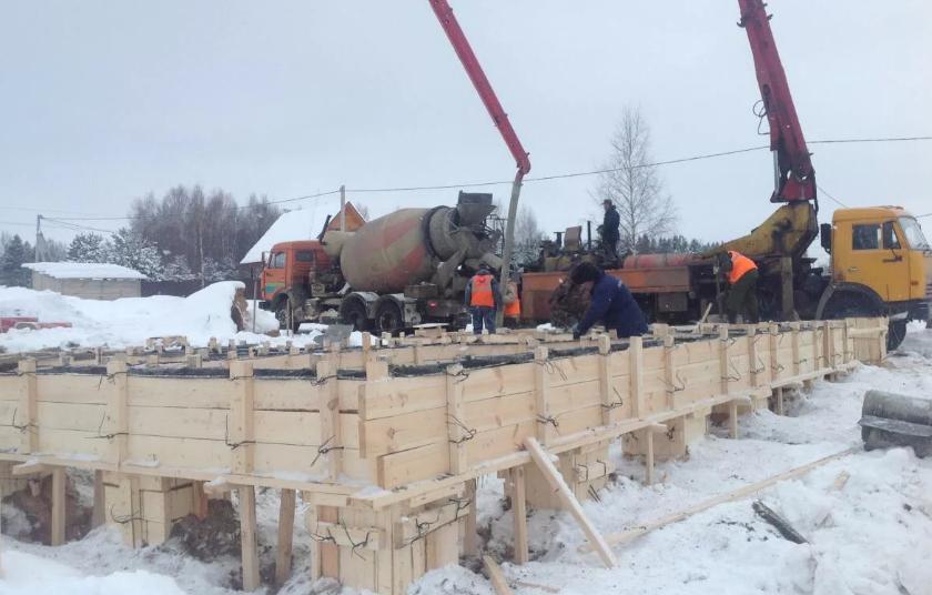 Зимние бетонные работы