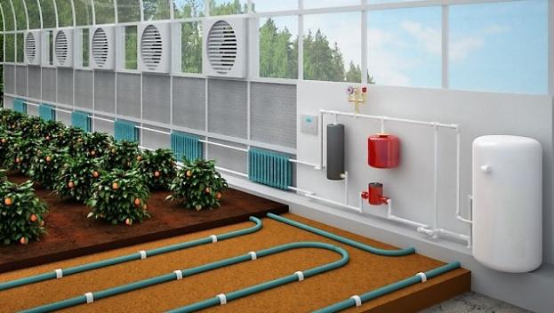Отопление теплицы газовым котлом