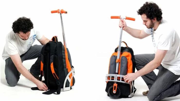 Рюкзак-самокат-подарок для молодого человека