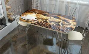 Столы из стекла для кухни