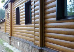 Внешняя отделка деревянного дома имитацией бруса