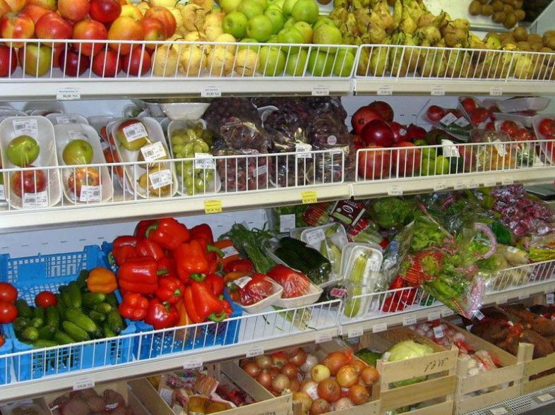 Открытие магазина овощей.