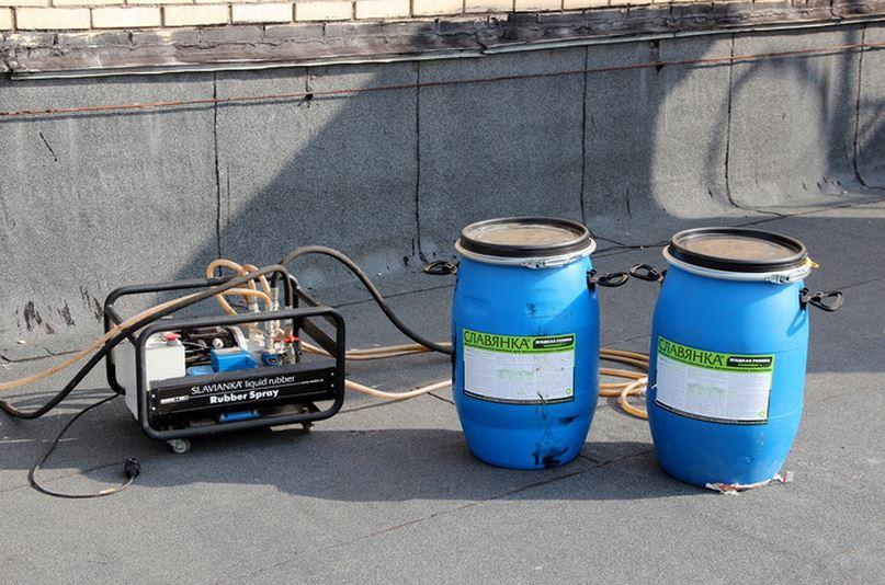 Распылительная установка для гидроизоляции жидкой резиной