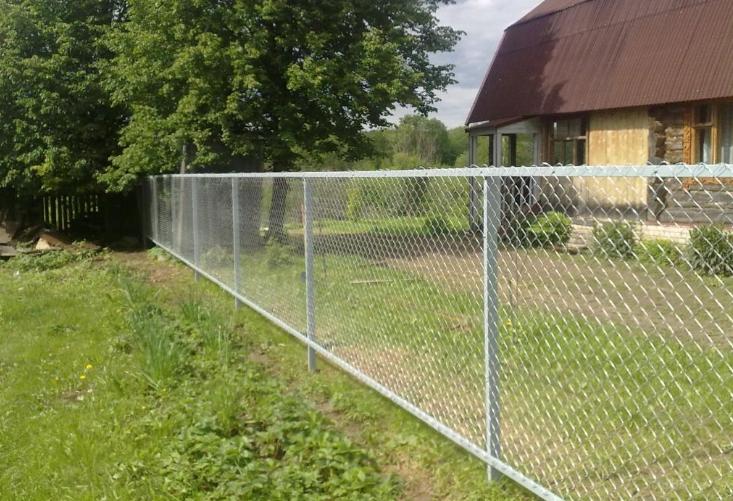 Забор с рабицей