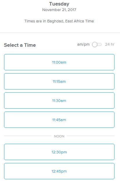 Автоматическое добавление времени для звонка